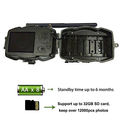 BolyGuard 4G 3G cellulaire 30MP 1080P HD Caméra de chasse la faune Scouting GPRS MMS SMS Vision nocturne numérique Infragouge IP65 Water Protected Design (MG984G-30M)