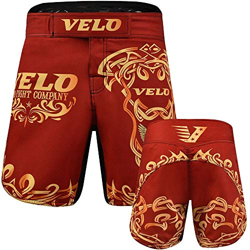 VELO MMA Shorts Fight Boxing Cage Kick Fighter Grappling Muay Thai Gym...