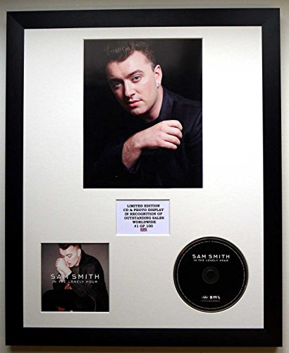 SAM Smith/Foto & CD Display LTD. Edition of The Album IN The Lonely Hour
