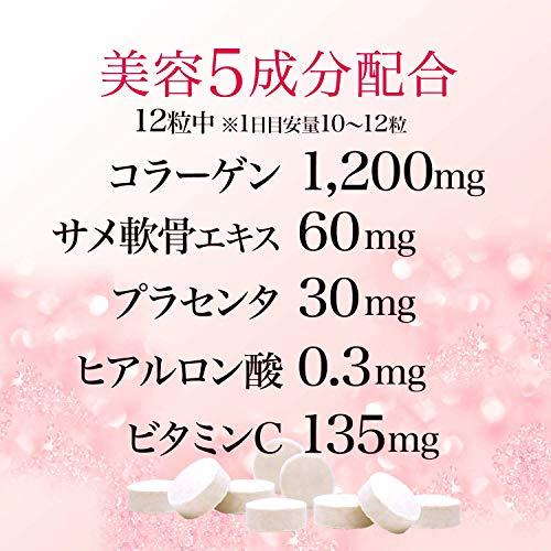 ユウキ製薬 徳用コラーゲンプラセンタ&ヒアルロン酸粒 600粒入