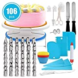 Best Cake Boss Turntables - Cake Decorating Supplies,106 PCS Cake Decorating Tools Kit Review