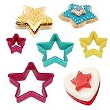 Metaltex Dolceforno-Juego de 4 Cortapastas, plástico, Forma de Estrella...