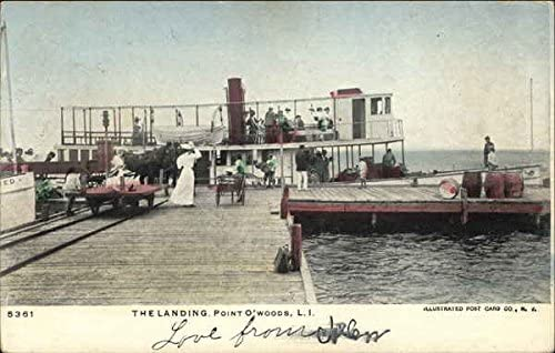 The Houston Mall Landing discount Point O'Woods New Original Postcard NY York Vintage