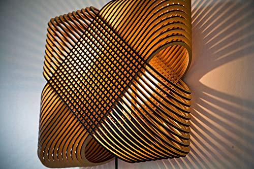 EVEVO L0016 - Lámpara de techo colgante de madera, diseño moderno, 109 colores de barniz natural