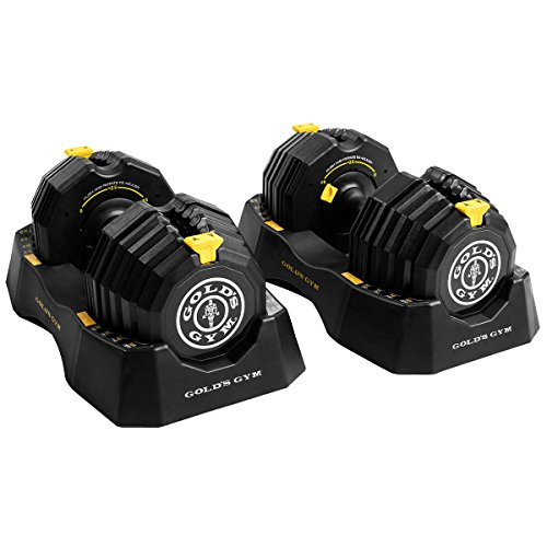 Golds Gym 110 lb. Select-A-Weight Dumbbell Set