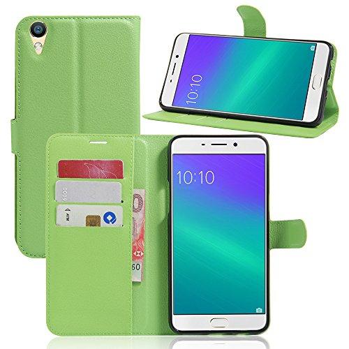 Litao-Case CN Hülle für Oppo R9 Plus hülle Flip Leder + TPU Silikon Fixierh Schutzhülle Case 5