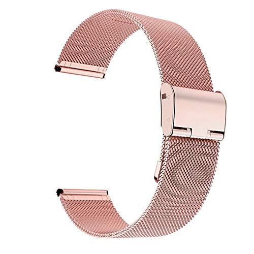 CRFYJ 22 mm 20 mm de Reloj de Reloj para Samsung Galaxy Watch Active 2 Band para Samsung Gear S3 Strap para Samsung Galaxy Watch 42mm 46mm Reloj de Reloj (Band Color : Pink, Band Width : 22mm)