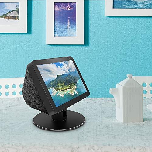 Echo Show 8 Adjustable Aluminum Swivel Stand, Stand for Amazon Echo Show 8, Horizontal 360 Rotation Longitudinal Angle Change Base black ES012-01