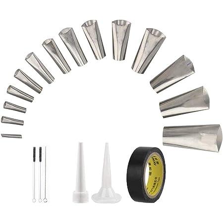 Caulking Tool Reusable Sealant Finishing Tools Caulk Nozzle Applicator Set Stainless Steel Sealant Finishing Tool Kit for Kitchen Bathroom Door Window WCS 14Pcs Perfect Caulking Finisher