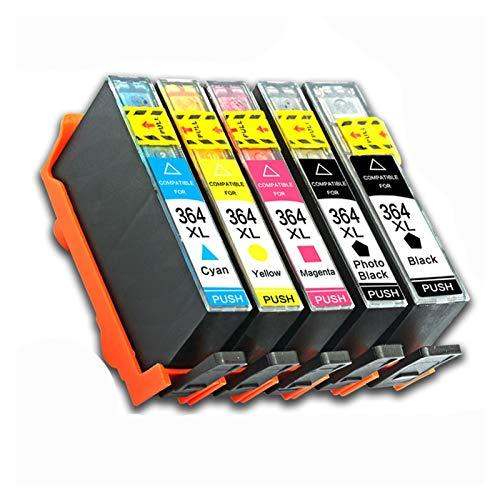 WTBH Cartucho de Tinta Cartucho de Impresora para HP Photosmart 364XL HP 364 XL Reemplazo 5510 5515 6510 B010A B109A B209A Deskjet 3070A HP364 Reemplace el Cartucho de Tinta (Color : 5pcs)