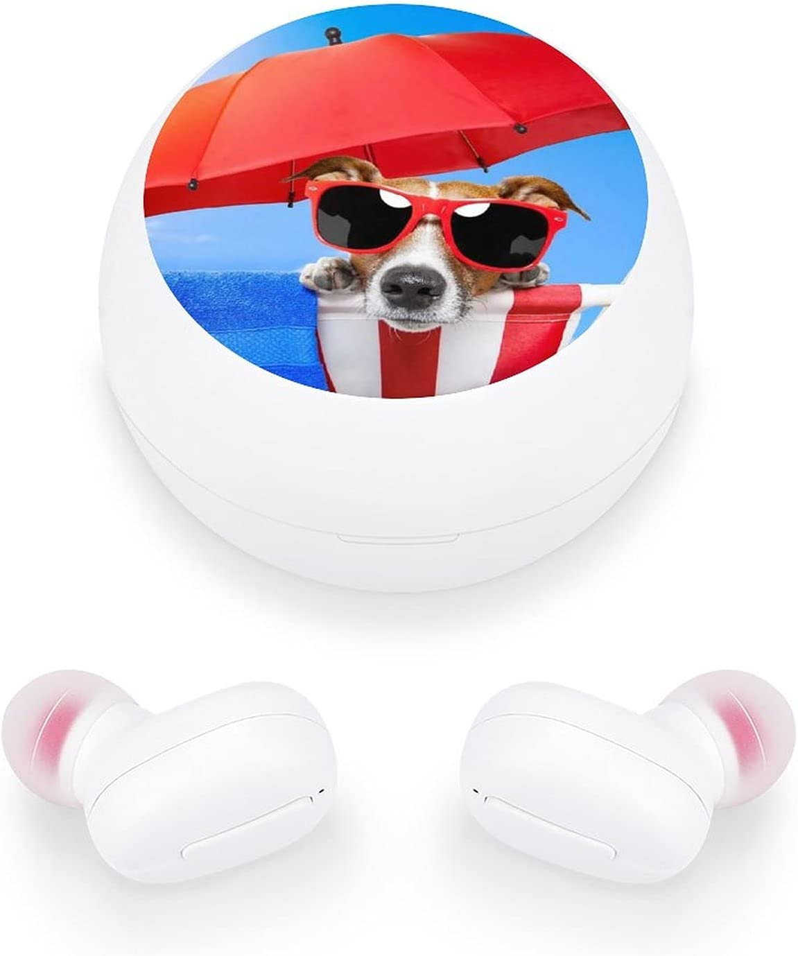 Wireless Earbuds Bluetooth 5.0 Headphones Sunglasses Dog Earphones with Charging Case Built-in Mic in Ear Headset Noise Cancelling