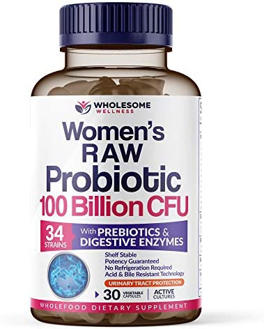 Dr Formulated Raw Probiotics for Women 100 Billion CFUs with Prebiotics Digestive Enzymes UT product image