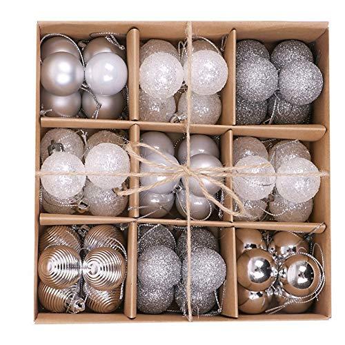 Kaishuai-Palle di Natale-300mm Addobbi Natalizi per Albero,palle di natale,Decorazione per Albero di Natale.Palline di natale,Decorazioni albero di natale bianche,54Pezzi-bero di Natale Deco Appeso