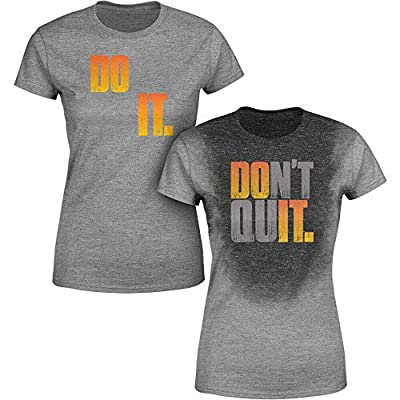 Sweat Activated Women Shirt | Fitness Weight Loss Top | Do It, Don't Quit