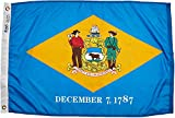 Annin Flagmakers Model 140850 Delaware Flag Nylon SolarGuard NYL-Glo, 2x3 ft, 100% Made in USA to Official State Design Specifications