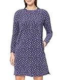 Schiesser Damen Sleepshirt 1/1, 100cm Nachthemd, blau, 38