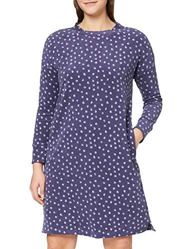 Schiesser Damen Sleepshirt 1/1, 100cm Nachthemd, blau, 42