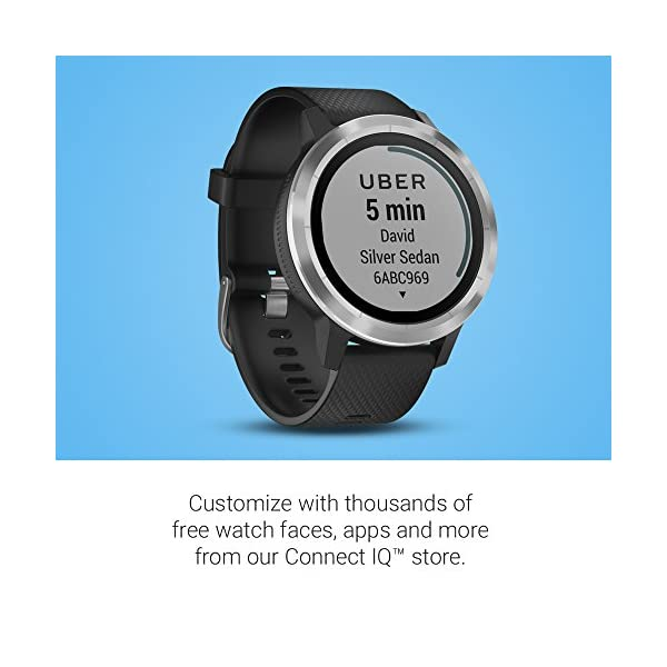 Fashion Shopping Garmin vívoactive 3, GPS Smartwatch Contactless Payments Built-In Sports Apps, Black/Slate