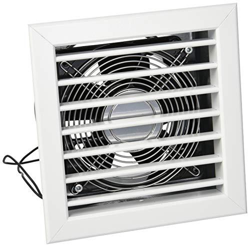 La ventilación gcmib1818140-y gcmib1818140Rejilla Para chimeneas con elettroventola, aluminio lacado 180x 180mm, blanco