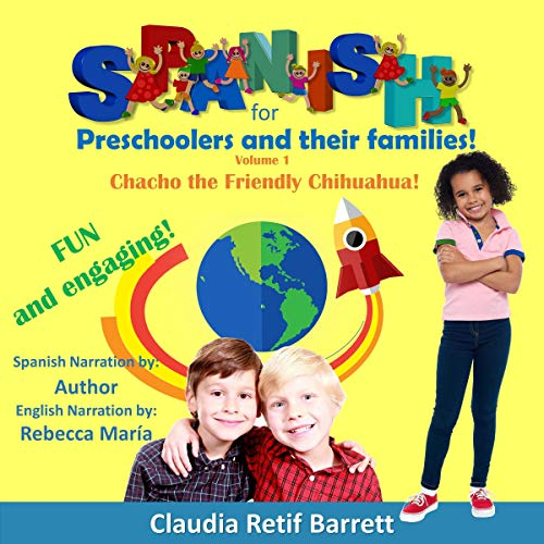 Spanish for Preschoolers and Their Families, Book 1: Sky Rocket Your Conversational Spanish audiobook cover art
