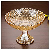 Y.H.Valuable フルーツバスケット クリスタルガラス装飾センターピースフルーツボウル、モダンリビングルームフルーツボウルクリエイティブハイドライフルーツボウルクリエイティブ (色 : ゴールド, サイズ さいず : D24cm)
