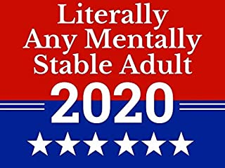 MM Literally Any Mentally Stable Adult 2020 - Lawn Sign