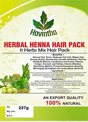 Havintha naturel à base de plantes henna 11 herbes mix paquet cheveux 8 oz, produit de, 227g