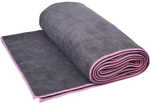Amazon Basics - Toalla para yoga, Rosa