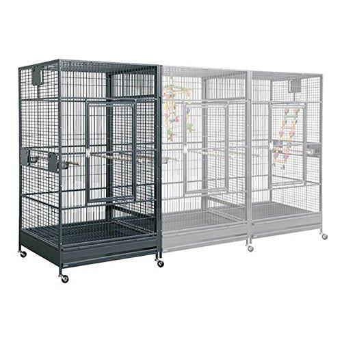 Montana Cages ® | Erweiterungs - Modul für Papageienvoliere Papageienkäfig XXL Arkansas Antik
