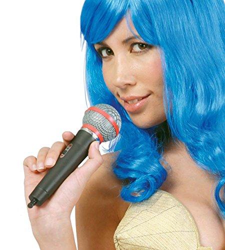 FIESTAS GUIRCA Falso micrófono plástico cm 20 para Cantante Disfraz