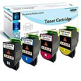 Aseker Compatible Cartuchos de Tóner para Lexmark CS310dn CS310n CS310dtn CS410n CS410dn CS410dtn CS510de CS510dte Impresoras, 4000 & 3000 Páginas, 70C2HK0 70C2HC0 70C2HM0 70C2HY0 (BK/C/Y/M
