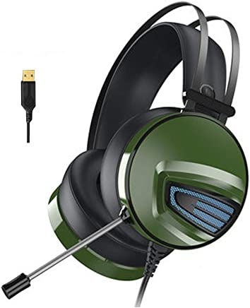 Gaming Headset per PS4 PC, 7.1 Surround Sound Stereo Noise Reduction Cuffie da Gioco Professionali USB con Microfono Compatibile con PC, Xbox One, PS4, Nintendo Switch e dispositivi mobili-Green - Trova i prezzi più bassi