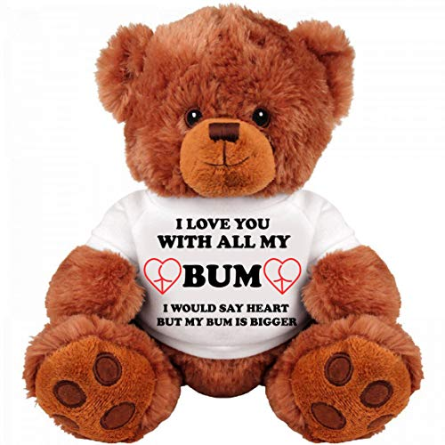 Romantic Gift Bear for Couple: Large 13' Inch Teddy Bear Funny Stuffed Animal: Unique Love You Gift : I Love You Bigger Than My Heart: Cute Relationship Gift : Boyfriend: Girlfriend: For her, him