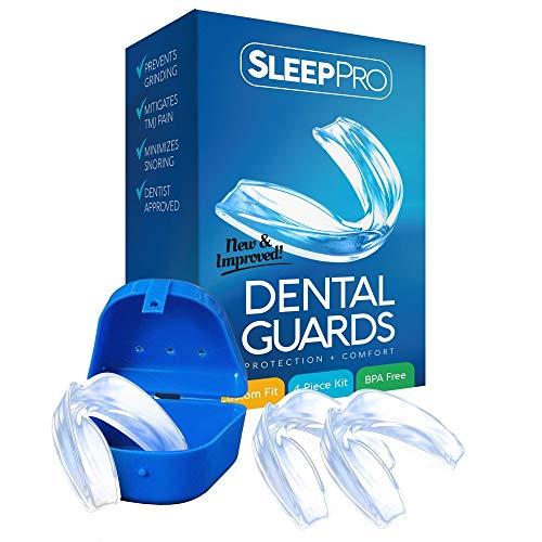 Protector Bucal   SleepPro   Protector Bucal Nocturno para Prevenir la ATM y el Bruxismo   Protectores Dentales Profesionales para el Dolor de Boca y Mandíbula   Incluye Estuche   3 Protectores