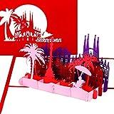 Tarjeta de felicitación 'Barcelona' – Tarjeta 3D desplegable con silueta y Sagrada Familia – Tarjeta de ciudades como recuerdo, invitación y cupón de viaje para España vacaciones y City Trip Barcelona