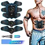 Byroras Electrostimulateur Musculaire,Ceinture Abdominale ABS Trainer,USB Rechargeable,Écran LCD,10 Coussinets de Gel...
