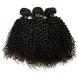 BLISSHAIR Lot de 3 Bresilienne Virgin Hair Baby Deep 14' court cheveux Bresilienne vierges de Tissages Lot de 200 g/Extensions de cheveux humains