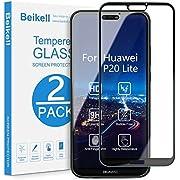 Beikell [2 Stück] Displayschutzfolie für Huawei P20 Lite, Volle Abdeckung Schutzfolie mit 9H Härte, Anti-Kratzen, Ultra-klar, Blasenfrei