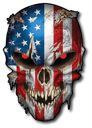 USA Skull American Flag Vinyl Decal Stickers Car Truck Sniper Marines Army Navy Military Graphic