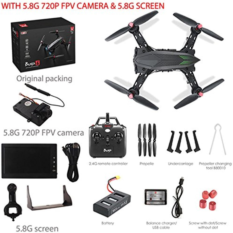 gran descuento DishyKooker MJX Bugs 6 B6 Profesional Racing RC Drone HD HD HD 720P FPV Video en Vivo Quadcopter DisJugar + Camera  más descuento