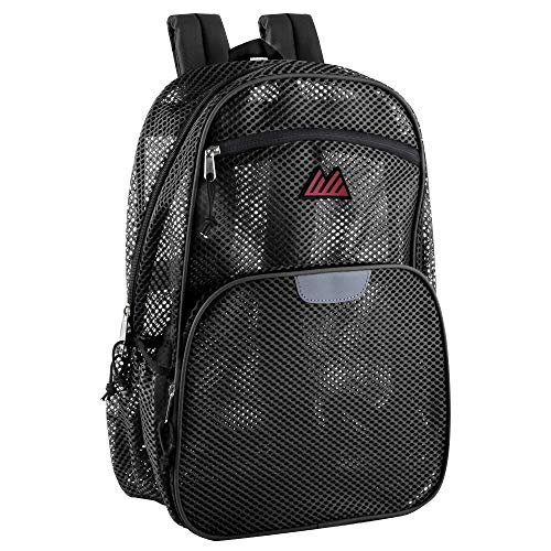 Collapsible Mesh Backpacks for Adults, School, Beach - Backpack with Reflective Strip and Wire Frame...