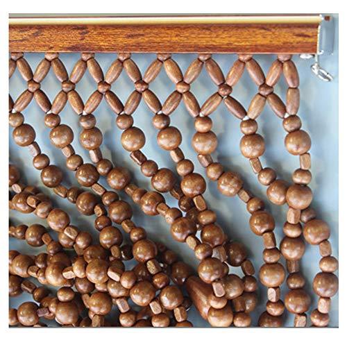 LIQICAI Rideau De Perles En Bois Naturel Rideaux Decore Votre Chambre Chaîne De Perles De Haute Qualité for La Décoration Fait Main Rideau De Ficelle Porte Portes De Placard