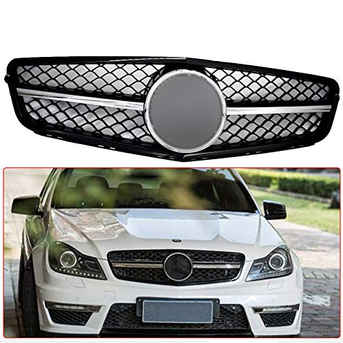 Front Upper Grille Fit For Mercedes Benz W204 C-CLASS 2008-2013 C280 C230 C300 C350 AMG Style