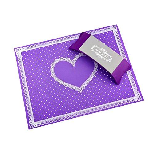 Frcolor Coussin de main et repose-bras en silicone souple pour nail art Violet