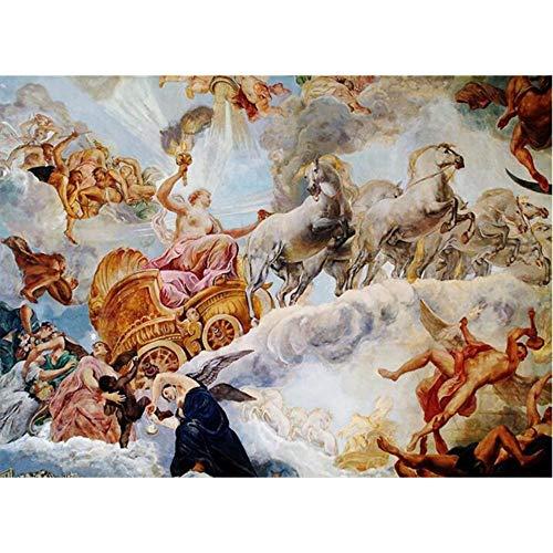 Papel tapiz mural 3d Pegatinas de pared para dormitorio de la salaTecho superior ángel figura pintura al óleo Virgen María iglesia revestimientos de paredesTamaño personalizado