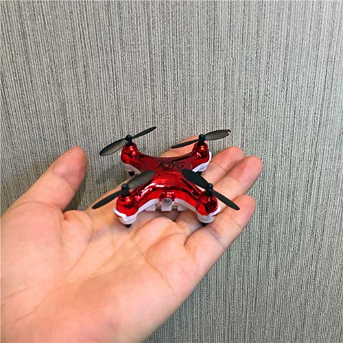 Ycco Super Mini Micro Nano Quadcopter RC Nuevo Drone UFO Duradero con CÁMARA Y Luces LED 2.4G Canales 3D Gyro Axis Stunt Spin Flip Flips (Solo 5 cm x 2,5 cm) ( Color : Red )