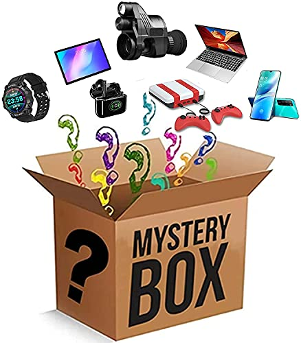 Mystery Box Electronic, Random Electronic Product Explosion Box Überraschungsbox, Schöne Geschenke:Mobile Phones, Night Vision, Laptop, Smart Watches, Spielkonsole, Etc.