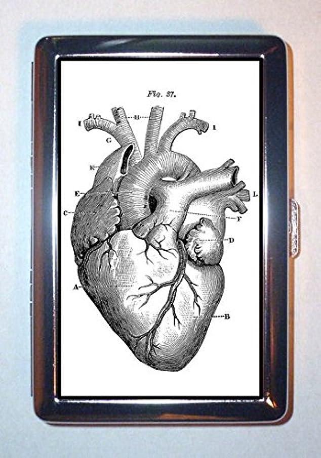 関数歴史家偽善Gothic Victorian Heart Anatomy Medical Art: Stainless Steel ID or Cigarettes Case (King Size or 100mm) by Coastal Colors