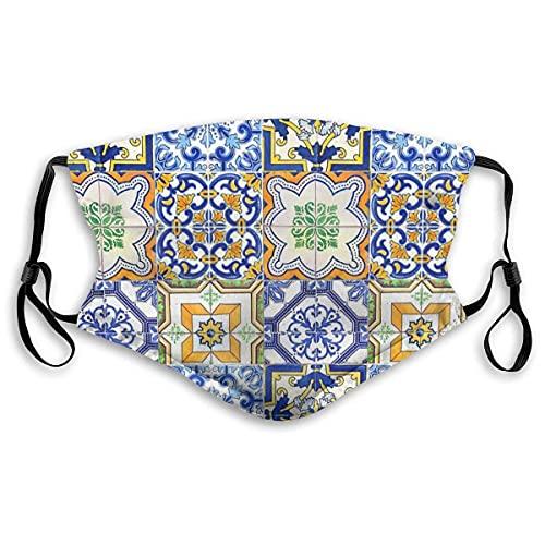 Sport Face Ma-sk Azulejo — Portugués Moorish Pattern Socks Sun-Proof Bandana Headwear Para Pescar