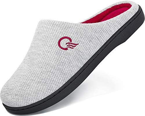 Pantofole Donna Invernali Home Scarpe Memory Foam Caldo Comode Antiscivolo Ciabatte Casa Interno e Esterno Grigio 40/41